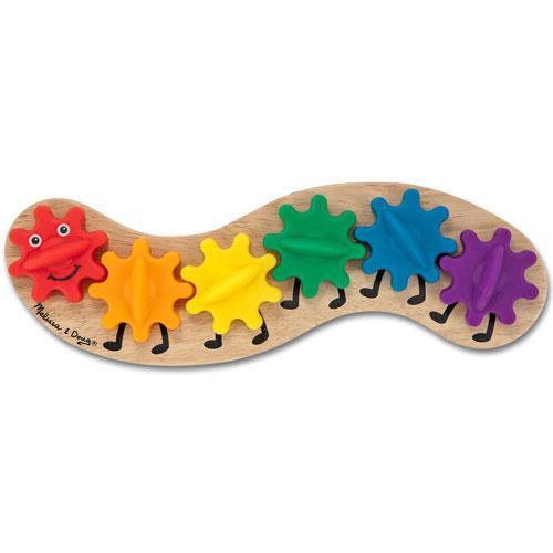 Melissa & Doug - Rainbow Caterpillar Gear Toy