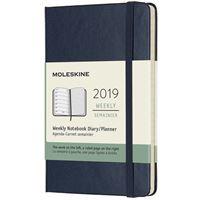 Agenda Semanal 2019 Moleskine Notebook Bolso Azul Escuro