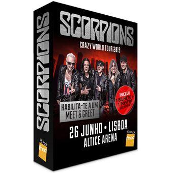 Fã Pack Fnac Scorpions – Balcão 2 | Preço: 32€ Pack + 2.36€ Custos de Operação