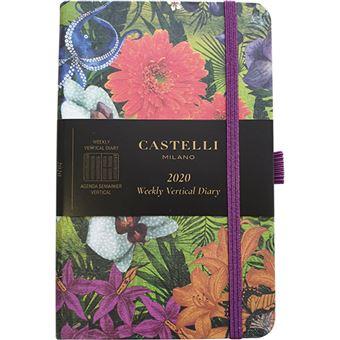 Agenda 12 Meses 2020 Castelli Milano Harris A6 Semanal Eden Orchid