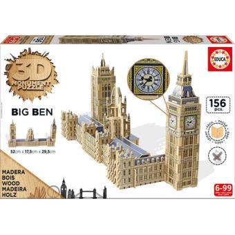Puzzle 3D Monument Big Ben 156 Peças