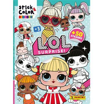 Livro Para Colorir Stick & Color - LOL Surprise