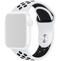 Bracelete Silicone 4-OK para Apple Watch 38mm | 40mm - Branco | Preto