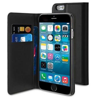 Muvit Capa Folio Slim Preto para iPhone 6s/6