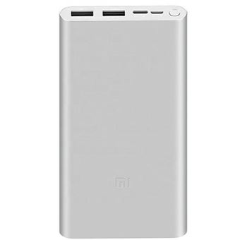 Power Bank Xiaomi Mi 3 Fast Charge 18W - 10000mAh - Prateado