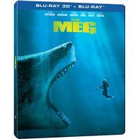 Meg: Tubarão Gigante - Edição Steelbook - Blu-ray 3D + 2D