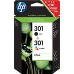 HP Pack Tinteiro Preto Nº301 + Tricolor Nº301 (J3M81AE)