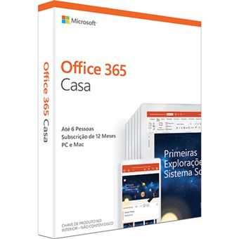 Microsoft Office 365 Casa - 1 Ano | 6 Dispositivos