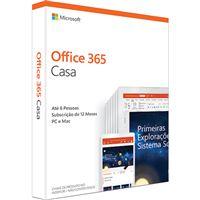 Microsoft Office 365 Casa - 1 Ano | 6 Dispositivos