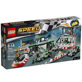 LEGO Speed Champions 75883 Equipa Fórmula 1 Mercedes AMG Petronas