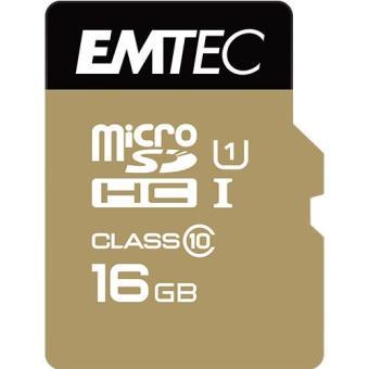 Emtec Cartão MicroSDHC Classe 10 Gold+ 85MB/s - 16GB