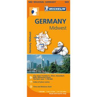 Mapa Michelin Regional 543 - Alemanha Centro Oeste