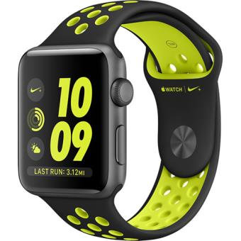 Apple Watch Nike+ 42mm Cinzento Sideral | Bracelete Desportiva Nike Preto/Volt