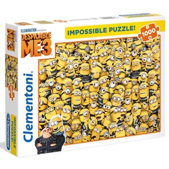 Puzzle Minions Impossible - 1000 Peças - Clementoni