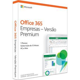 Microsoft Office 365 Empresas - Versão Premium - 1 Ano | 1 Dispositivo