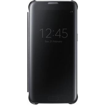 Samsung Capa Clear View para Galaxy S7 Edge (Preto)