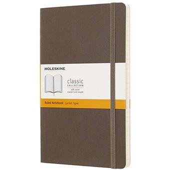 Caderno Pautado Moleskine Soft Grande Castanho Terra