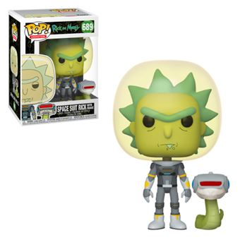 Funko Pop! Rick and Morty: Space Suit Rick With Snake - 689