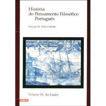 História do Pensamento Filosófico Português Vol 3