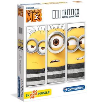 Puzzle Minions Tríptico 3 x 500 Peças - Clementoni