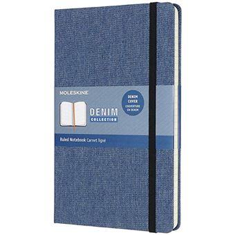 Caderno Pautado Moleskine Denim Antwerp Grande