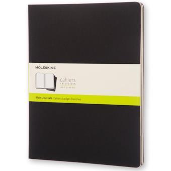 Cadernos Lisos Moleskine Cahier XXL Preto - 3 Unidades