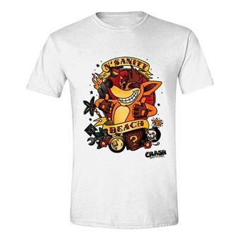 T-Shirt Crash Bandicoot: N' Sanity Beach - Tamanho S