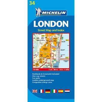 Michelin Plantas - London - Street Map And Index
