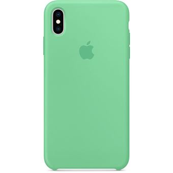 Capa Silicone Apple para iPhone XS Max - Hortelã