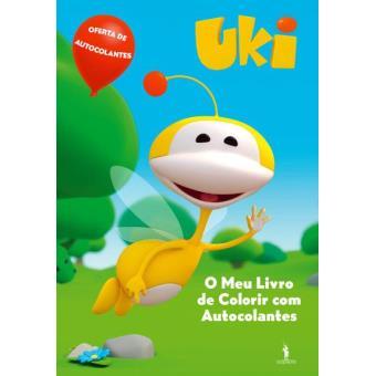 Uki - O meu Livro de Colorir com Autocolantes