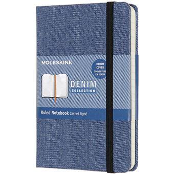 Caderno Pautado Moleskine Denim Antwerp Bolso