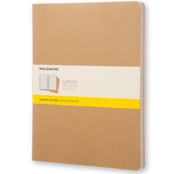 Cadernos Quadriculados Moleskine Cahier XXL Kraft - 3 Unidades