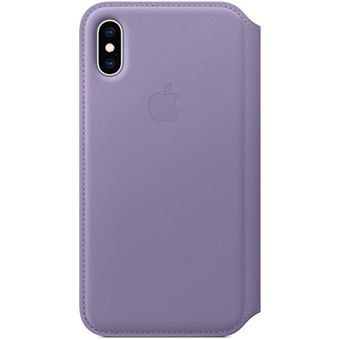 Capa Pele Folio Apple para iPhone XS - Lilás