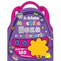 A Minha Mochila Roxa para Colorir