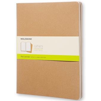 Cadernos Lisos Moleskine Cahier XXL Kraft - 3 Unidades