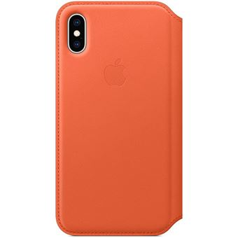 Capa Pele Folio Apple para iPhone XS - Pôr do Sol