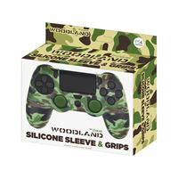 Capa de Silicone + Grips para Comando PS4 FREATEC Woodland Camuflagem