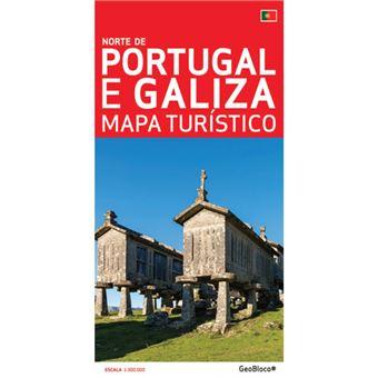 Norte De Portugal E Galiza Mapa Turistico Jose Mendes Junior