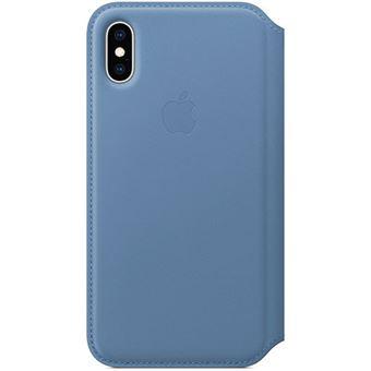 Capa Pele Folio Apple para iPhone XS - Centáurea Azul