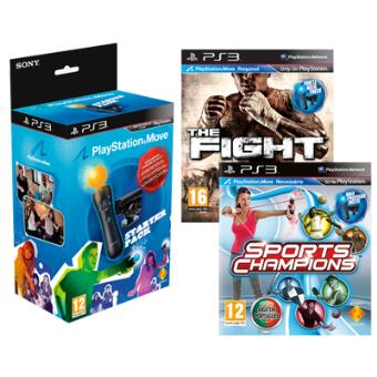 cheap for discount b56c7 cf4d7 Move Starter Pack + Sports Champion + The Fight PS3