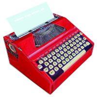 Bloco Memo Máquina de Escrever