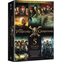Piratas das Caraíbas Pack 5 Filmes (5DVD)