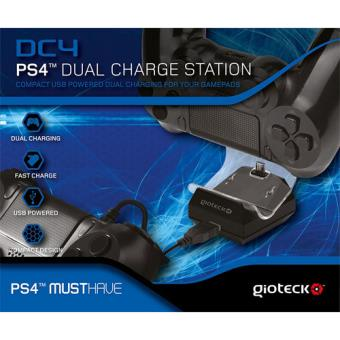 Gioteck DC4 Dual Charge Station PS4
