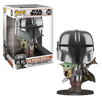 Funko Pop! Star Wars The Mandalorian: Chrome Mandalorian with Child - 380