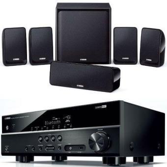 yamaha kit amplificador av rx v379 colunas 5 1 ns p20. Black Bedroom Furniture Sets. Home Design Ideas