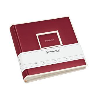 Álbum Para Fotografias Semikolon Pockets Pequeno Burgundy - 200 Fotografias