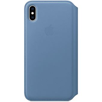 Capa Pele Folio Apple para iPhone XS Max - Centáurea Azul