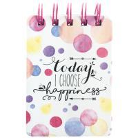 Bloco de Notas Pautado Happiness Mini