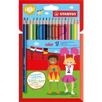 Lápis de Cor Stabilo Color - 18 Unidades