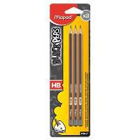 Lápis de Grafite Black Peps HB2 - 3 Unidades